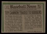 1974 Topps Traded #43 T Jim Wynn  Back Thumbnail