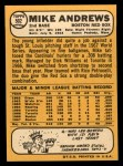 1968 Topps #502  Mike Andrews  Back Thumbnail