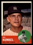 1963 Topps #523  Bill Kunkel  Front Thumbnail