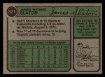 1974 Topps #371  Jim Slaton  Back Thumbnail