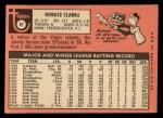 1969 Topps #87  Horace Clarke  Back Thumbnail