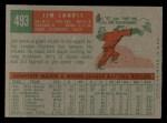 1959 Topps #493  Jim Landis  Back Thumbnail