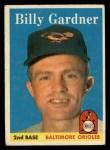 1958 Topps #105  Billy Gardner  Front Thumbnail