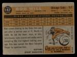 1960 Topps #147   -  Bob Will Rookie Star Back Thumbnail