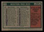 1975 Topps Mini #172   -  Darrell Johnson Red Sox Team Checklist Back Thumbnail
