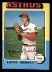 1975 Topps Mini #49  Larry Dierker  Front Thumbnail