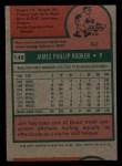 1975 Topps Mini #148  Jim Rooker  Back Thumbnail