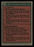 1975 Topps Mini #193   -  Yogi Berra / Roy Campanella 1955 MVPs Back Thumbnail