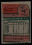 1975 Topps Mini #233  Billy Grabarkewitz  Back Thumbnail