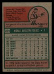 1975 Topps Mini #254  Mike Torrez  Back Thumbnail