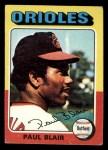 1975 Topps Mini #275  Paul Blair  Front Thumbnail