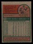 1975 Topps Mini #395  Bud Harrelson  Back Thumbnail