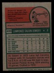1975 Topps Mini #433  Larry Demery  Back Thumbnail