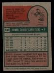 1975 Topps Mini #438  Don Carrithers  Back Thumbnail