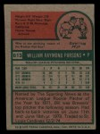1975 Topps Mini #613  Bill Parsons  Back Thumbnail