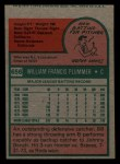 1975 Topps Mini #656  Bill Plummer  Back Thumbnail