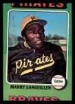 1975 Topps Mini #515  Manny Sanguillen  Front Thumbnail