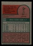 1975 Topps Mini #598  Bruce Kison  Back Thumbnail