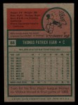 1975 Topps Mini #88  Tom Egan  Back Thumbnail