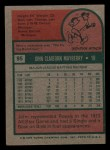 1975 Topps Mini #95  John Mayberry  Back Thumbnail