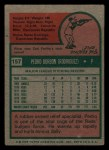 1975 Topps Mini #157  Pedro Borbon  Back Thumbnail