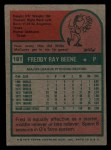 1975 Topps Mini #181  Fred Beene  Back Thumbnail