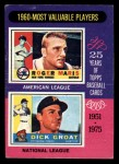 1975 Topps Mini #198   -  Roger Maris / Dick Groat 1960 MVPs Front Thumbnail