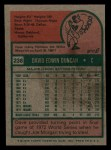 1975 Topps Mini #238  Dave Duncan  Back Thumbnail