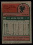 1975 Topps Mini #242  Jay Johnstone  Back Thumbnail