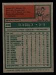1975 Topps Mini #389  Tony Solaita  Back Thumbnail