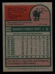 1975 Topps Mini #425  Tito Fuentes  Back Thumbnail