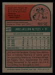1975 Topps Mini #497  Jim Nettles  Back Thumbnail