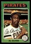 1975 Topps Mini #555  Al Oliver  Front Thumbnail