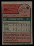 1975 Topps Mini #558  Dave Roberts  Back Thumbnail