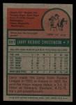 1975 Topps Mini #551  Larry Christenson  Back Thumbnail