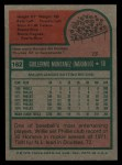 1975 Topps #162  Willie Montanez  Back Thumbnail