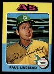 1975 Topps #278  Paul Lindblad  Front Thumbnail