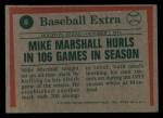 1975 Topps Mini #6  Mike Marshall  Back Thumbnail