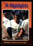 1975 Topps Mini #6  Mike Marshall  Front Thumbnail