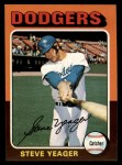 1975 Topps #376  Steve Yeager  Front Thumbnail