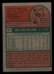 1975 Topps Mini #97  Earl Williams  Back Thumbnail