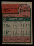 1975 Topps Mini #114  Dick Lange  Back Thumbnail