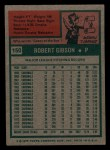 1975 Topps Mini #150  Bob Gibson  Back Thumbnail