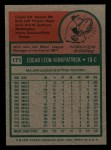 1975 Topps Mini #171  Ed Kirkpatrick  Back Thumbnail