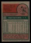1975 Topps Mini #536  Bob Moose  Back Thumbnail