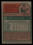 1975 Topps Mini #543  Larry Bittner  Back Thumbnail