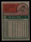 1975 Topps Mini #625  Boog Powell  Back Thumbnail