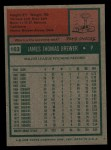 1975 Topps #163  Jim Brewer  Back Thumbnail