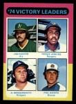 1975 Topps #310   -  Catfish Hunter / Ferguson Fergie Jenkins / Andy Messersmith / Phil Niekro Victory Leaders Front Thumbnail