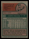 1975 Topps #124  Jerry Reuss  Back Thumbnail